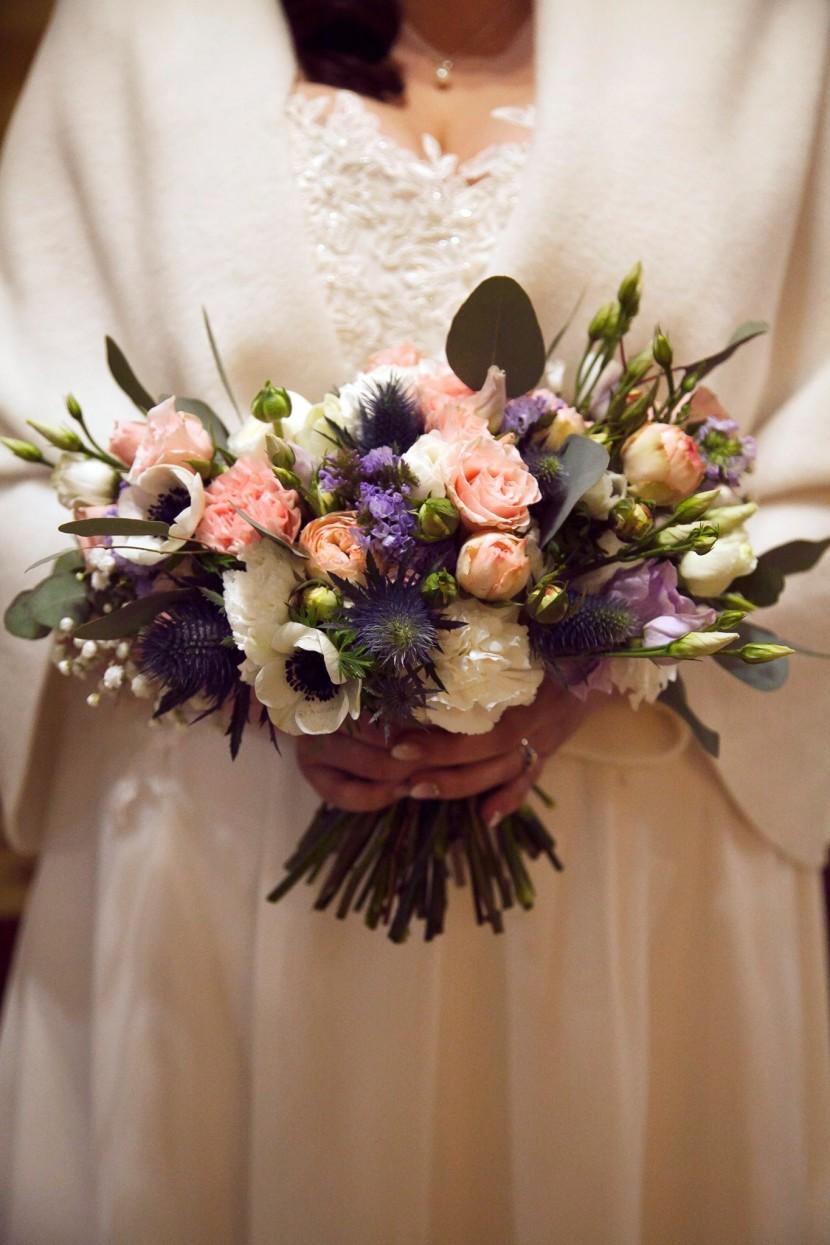 wiązanka do ślubu z anemonami