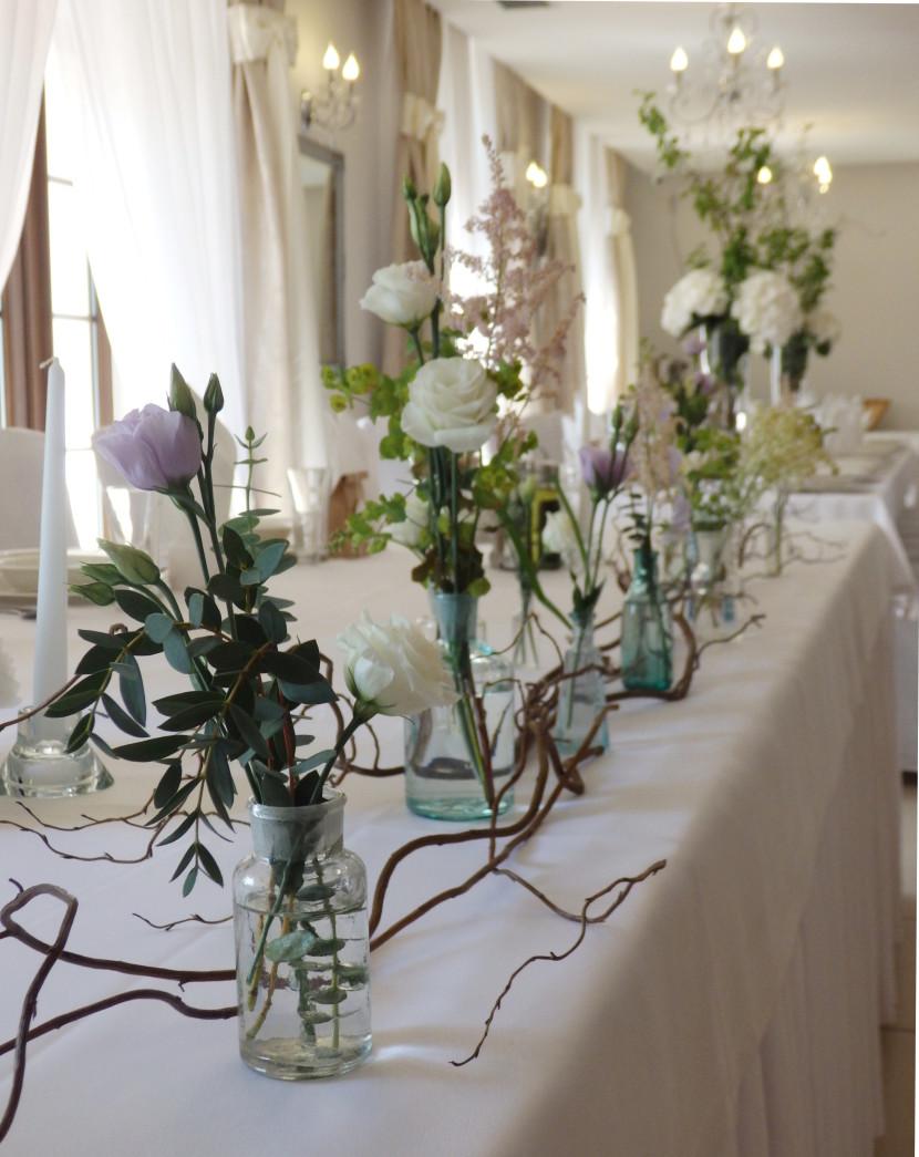 buteleczki przed pare młodą rustykalne wesele