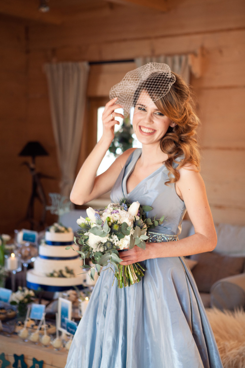 Wedding Dress color blue serenity